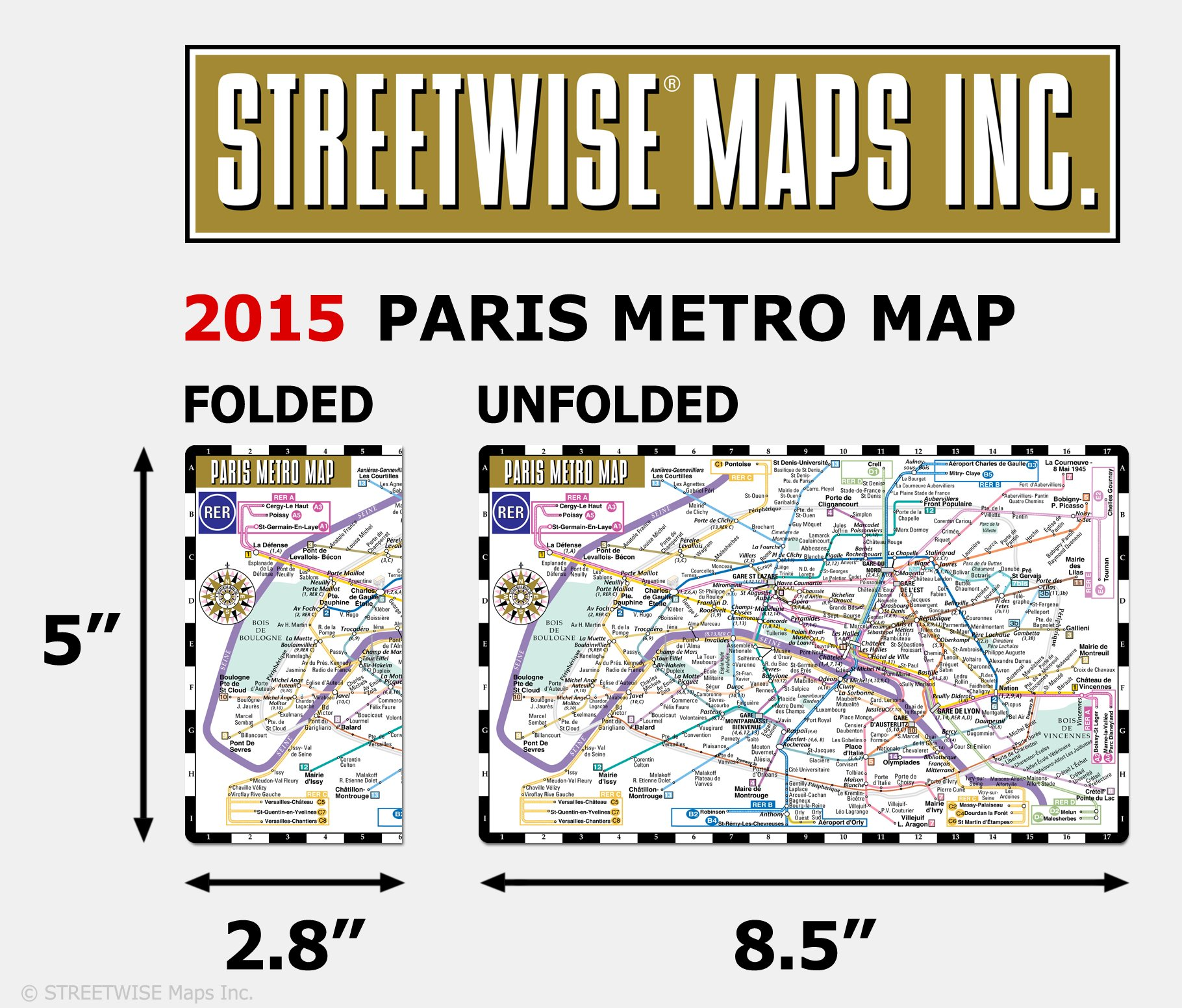 streetwise paris metro map laminated subway paris map rer system for travel pocket size streetwise maps inc 9781931257688 amazoncom books