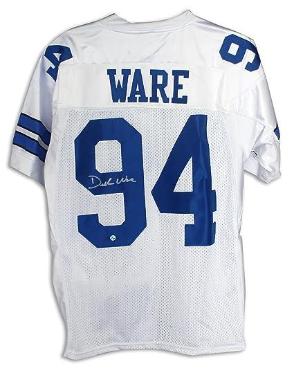 Demarcus Ware Dallas Cowboys Autographed White Reebok Jersey -APE ... a8bb433d5