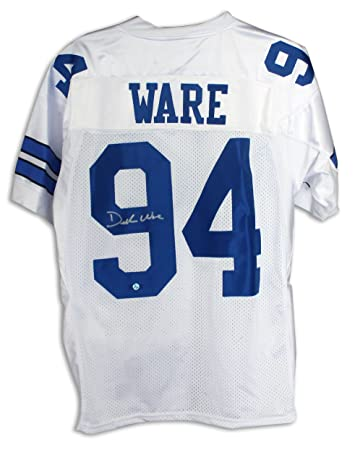 newest 5ec20 7593a Demarcus Ware Dallas Cowboys Autographed White Reebok Jersey ...