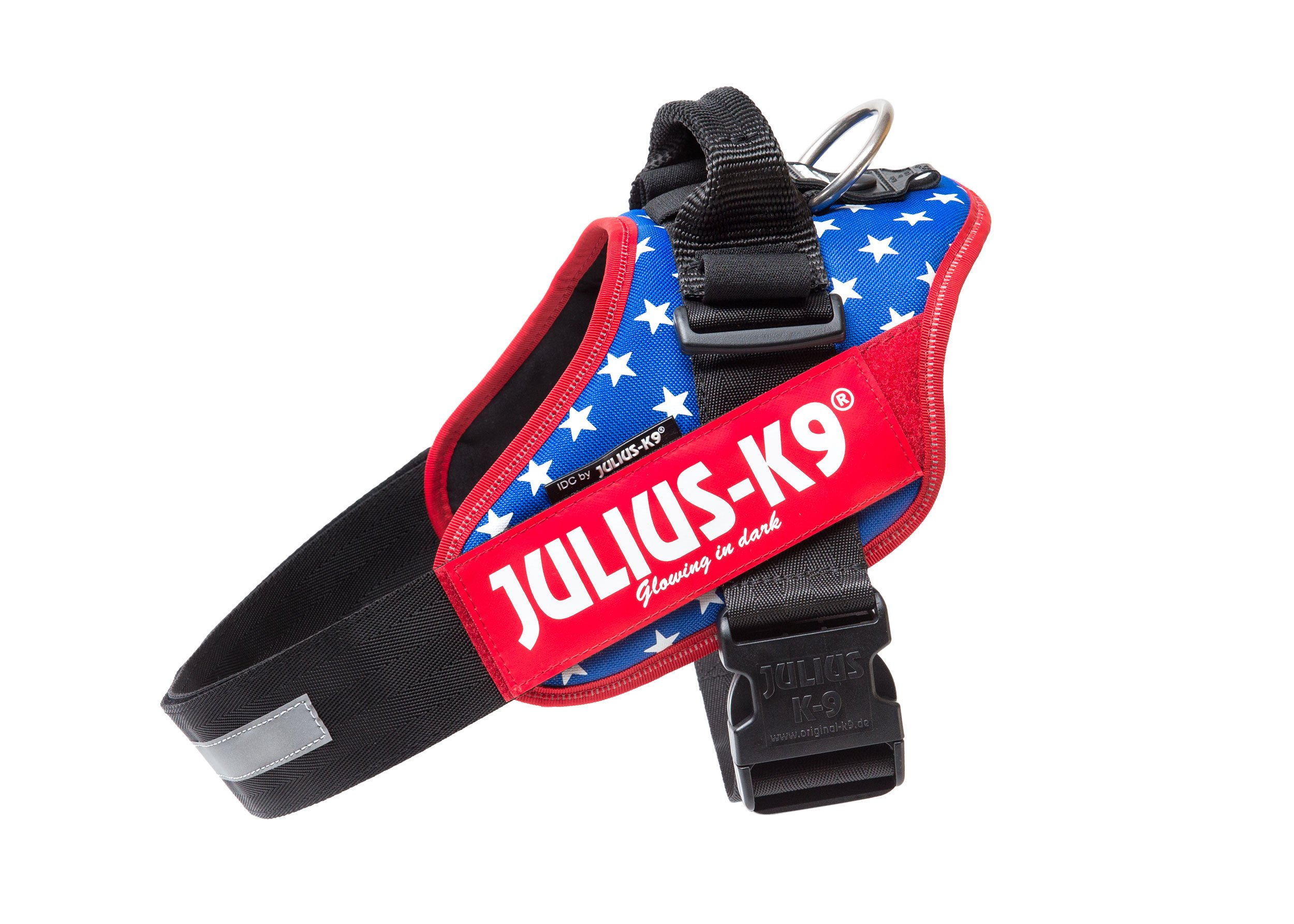 Julius-K9 IDC-Power Harness with Illuminated Velcro Patches, Ameri-Canis, Size: 1/63-85 cm/26-33.5''