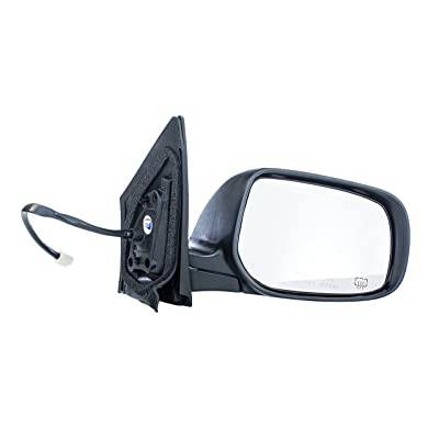 Dependable Direct Right Passenger Side Black Heated Manual Folding Power Operated Door Mirror for Toyota Corolla (2009 2010 2011 2012 2013) - Part Link #: TO1321247: Automotive