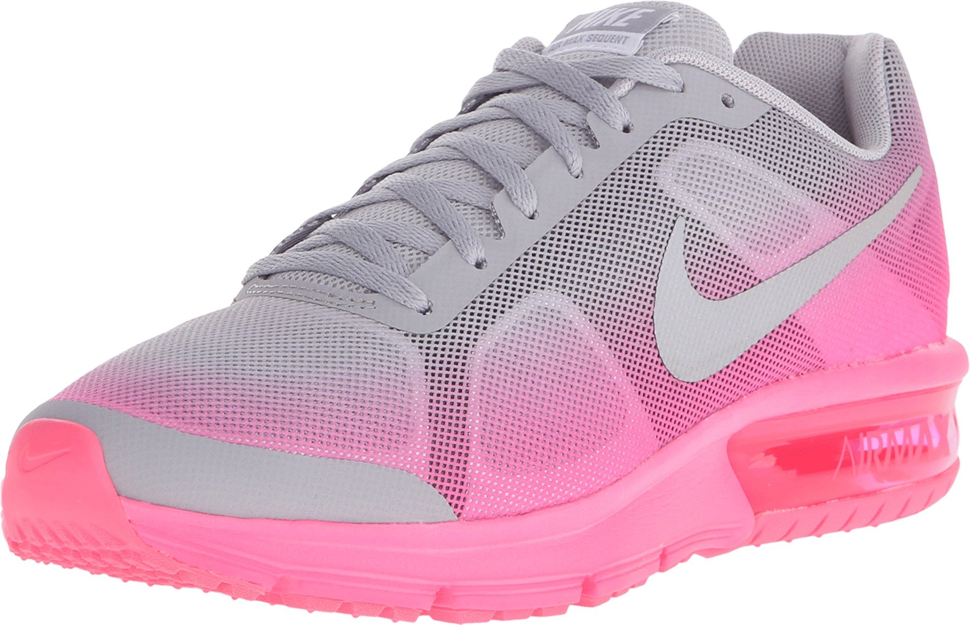 perdonar Llamarada Pegajoso  Nike Girl's Air Max Sequent (GS) Running Shoe Wolf Grey/Hyper Pink/Reflect  Silver Size 7 M US on Galleon Philippines