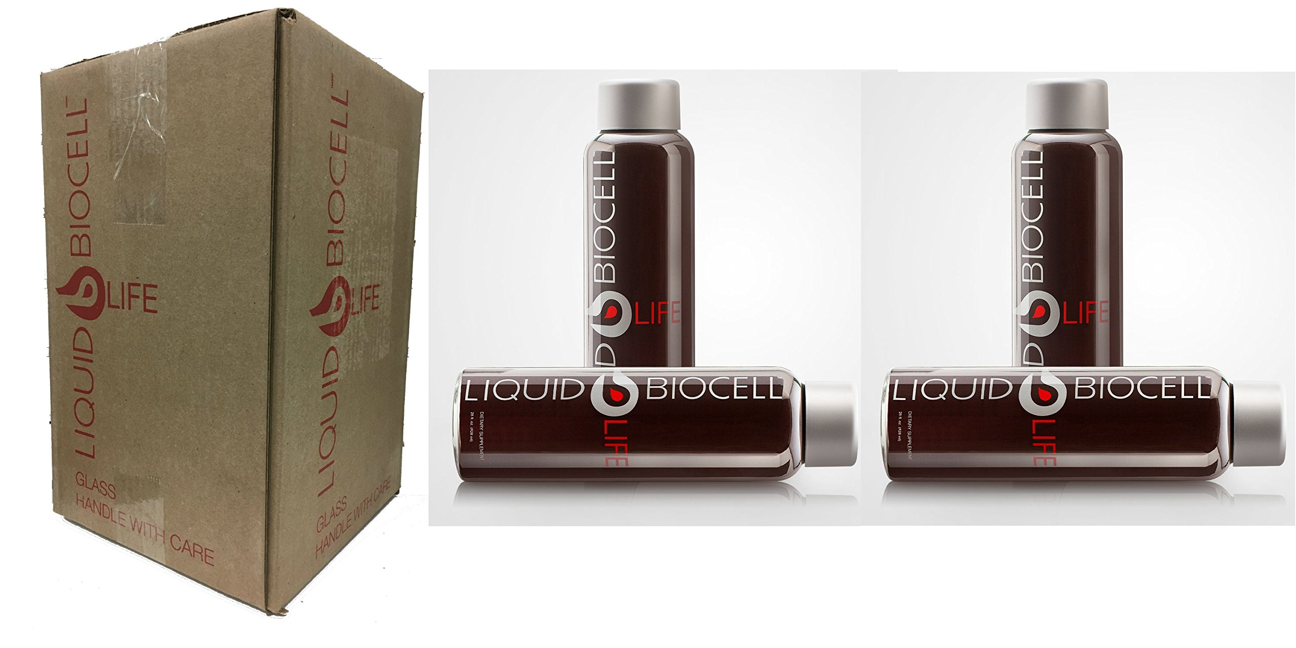 Liquid Biocell Life with Collagen and Resveratrol - Quad Pack (4 Bottles - 28 fl.oz. each) with Enhanced Packing in Original Case - FINAL SALE