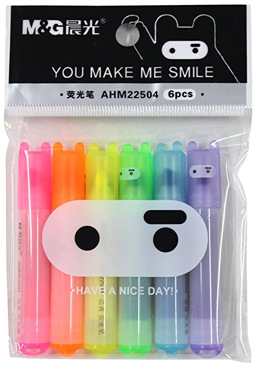 Lovely Ninja Mini fluorescente marcador marcadores 6 colores ...