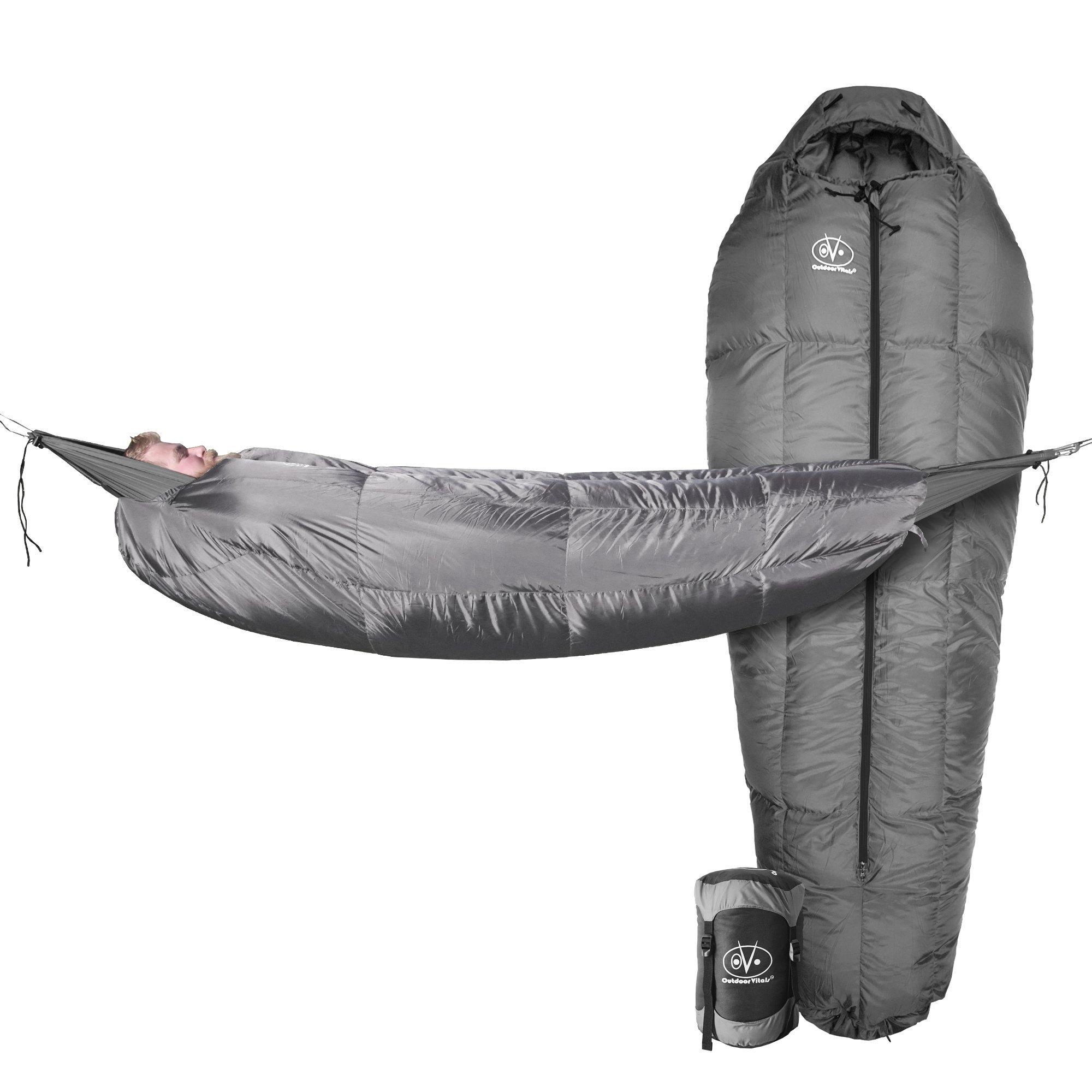 Outdoor Vitals StormLoft MummyPod Down Sleeping Bag for Hammock or Ground Camping