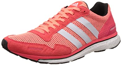 huge discount e2e53 65a92 adidas Womens Adizero Adios 3 Running Shoes, Rojo  Blanco (Brisol   Ftwbla