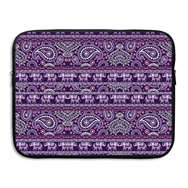 7288043cff9b Amazon.com: Elephant Purple Laptop Sleeve Case Bag Cover For 13-15 ...