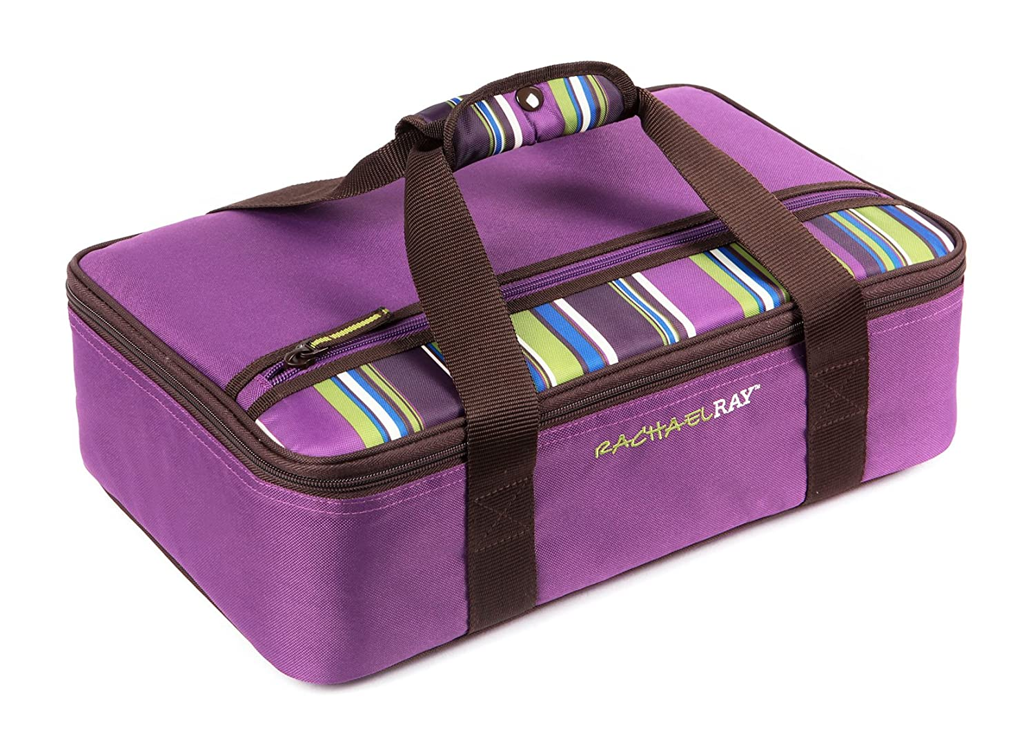 "Rachael Ray Lasagna Lugger, Insulated Casserole Carrier for Potluck Parties, Picnics, Tailgates - Fits 9""x13"" Baking Dish, Purple"