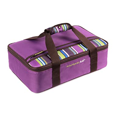 Rachael Ray Lasagna Lugger, Insulated Casserole Carrier for Potluck Parties, Picnics, Tailgates - Fits 9 x13  Baking Dish, Purple
