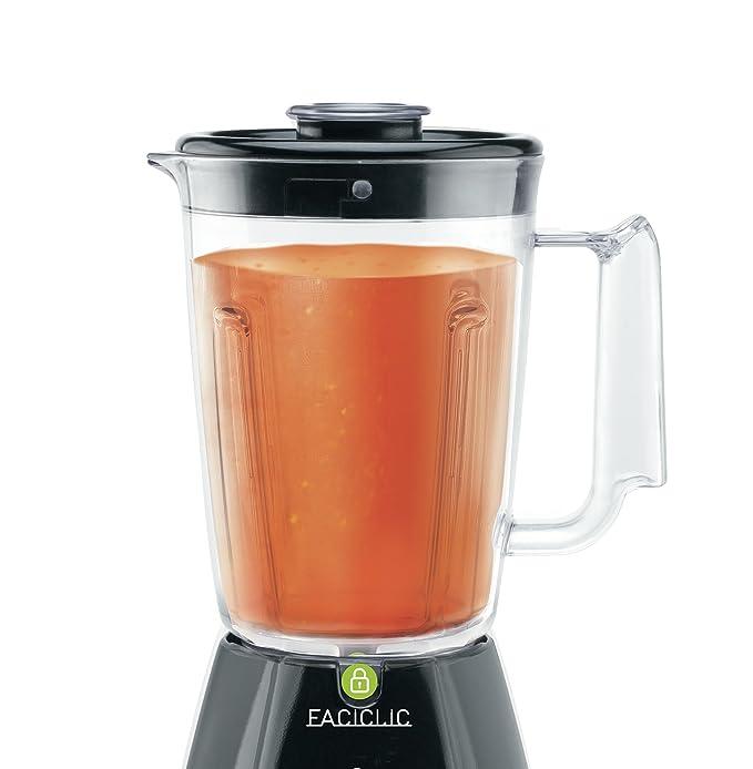 Tefal BL3008 Batidora de vaso Negro 1.5L 450W - Licuadora (De plástico, Acero inoxidable): Amazon.es: Hogar