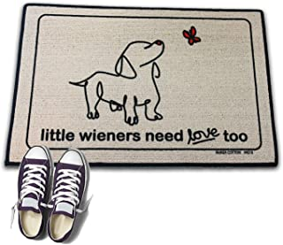 product image for HIGH COTTON Little Wieners Need Love Too Funny Doormat