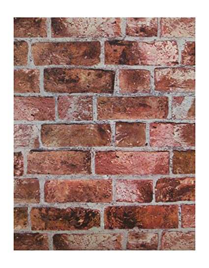 Amazon.com: York Wallcoverings HE1044 Red Brick Wallpaper: Home Improvement