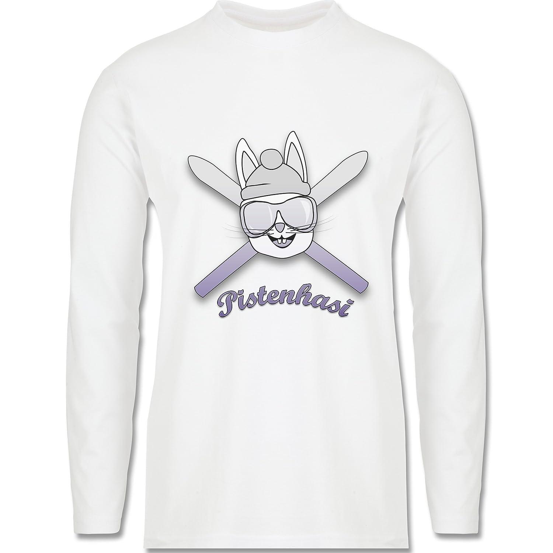 Après Ski - Pistenhasi - Longsleeve / langärmeliges T-Shirt für Herren
