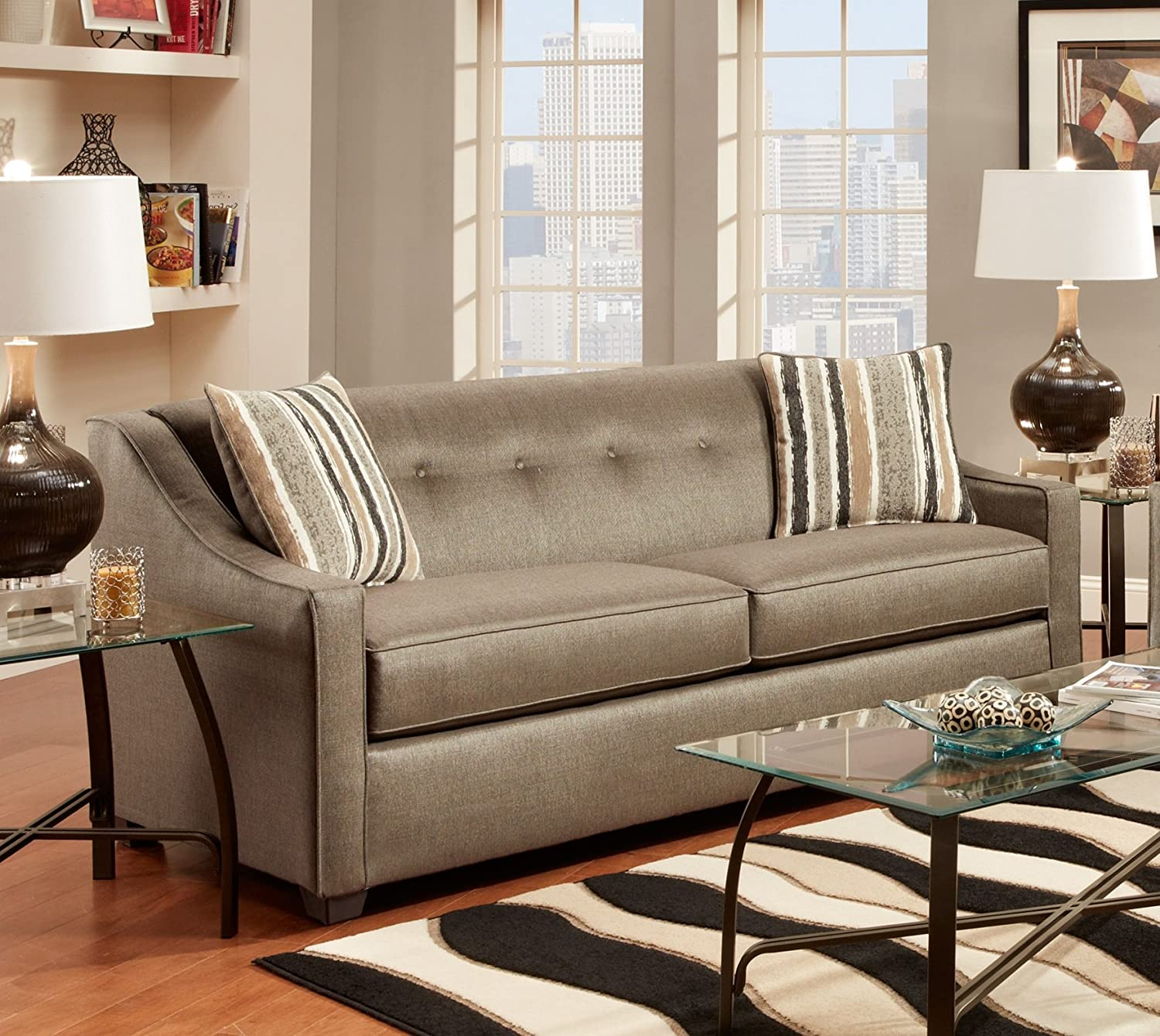 Amazon Chelsea Home Furniture Brittany Sofa Stoked Pewter