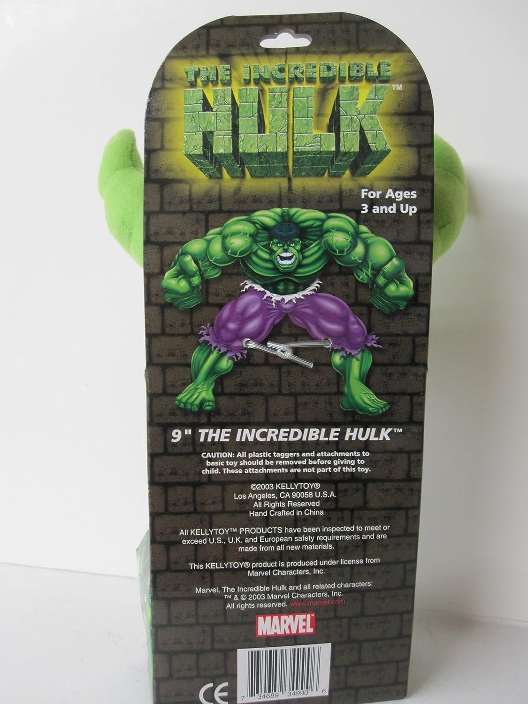Amazon.com: Marvel increíble Hulk de peluche 9 inches de ...