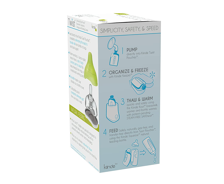 Kiinde Twist Active Latch Nipple Slow Flow 2 Pack