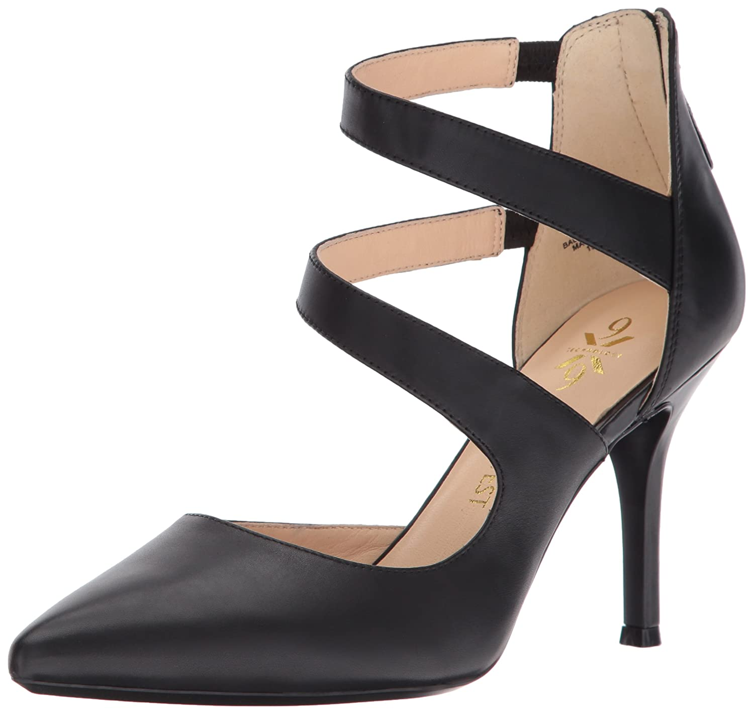 Nine West Women's Florent Pump B01N9CN4T4 7.5 B(M) US|Black Leather