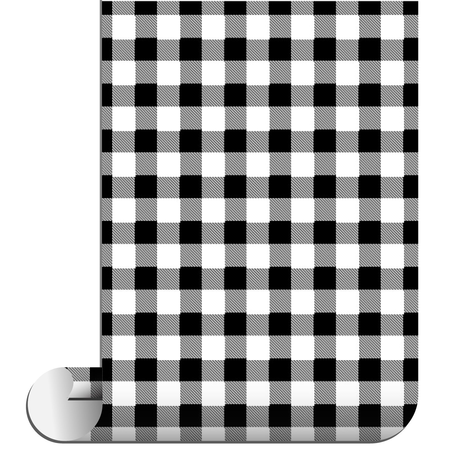 Sparkleberry Ink Siser Patterned HTV, 12'' by 4' Roll, White Buffalo Plaid by Sparkleberry Ink