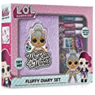 L.O.L. Surprise ! Girls Diary Journal   LOL Doll Kitty Queen Fluffy Diary Set For Girls With Plush Cover and Stickers   Journal Diaries and Stickers Set   Gift For Kids   Great Presents For Girls