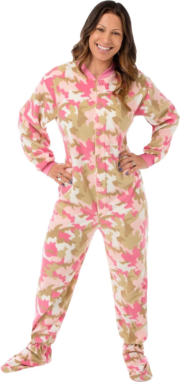 Little Girls Infant Toddler Pink Camo Fleece Footed Pajamas Sleeper