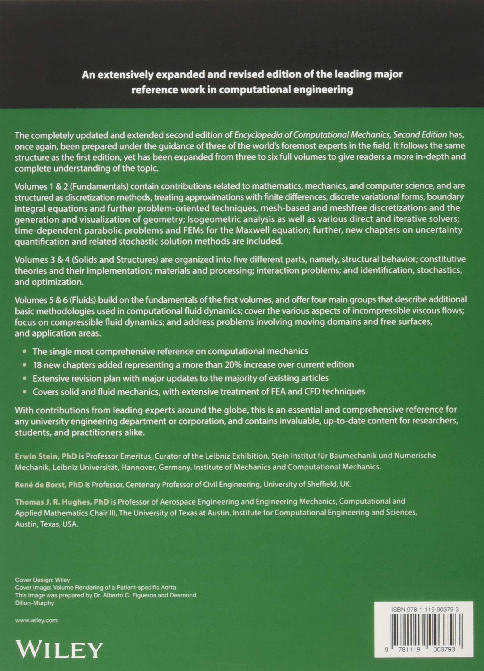 Encyclopedia of Computational Mechanics: 6 Volume Set: Amazon co uk