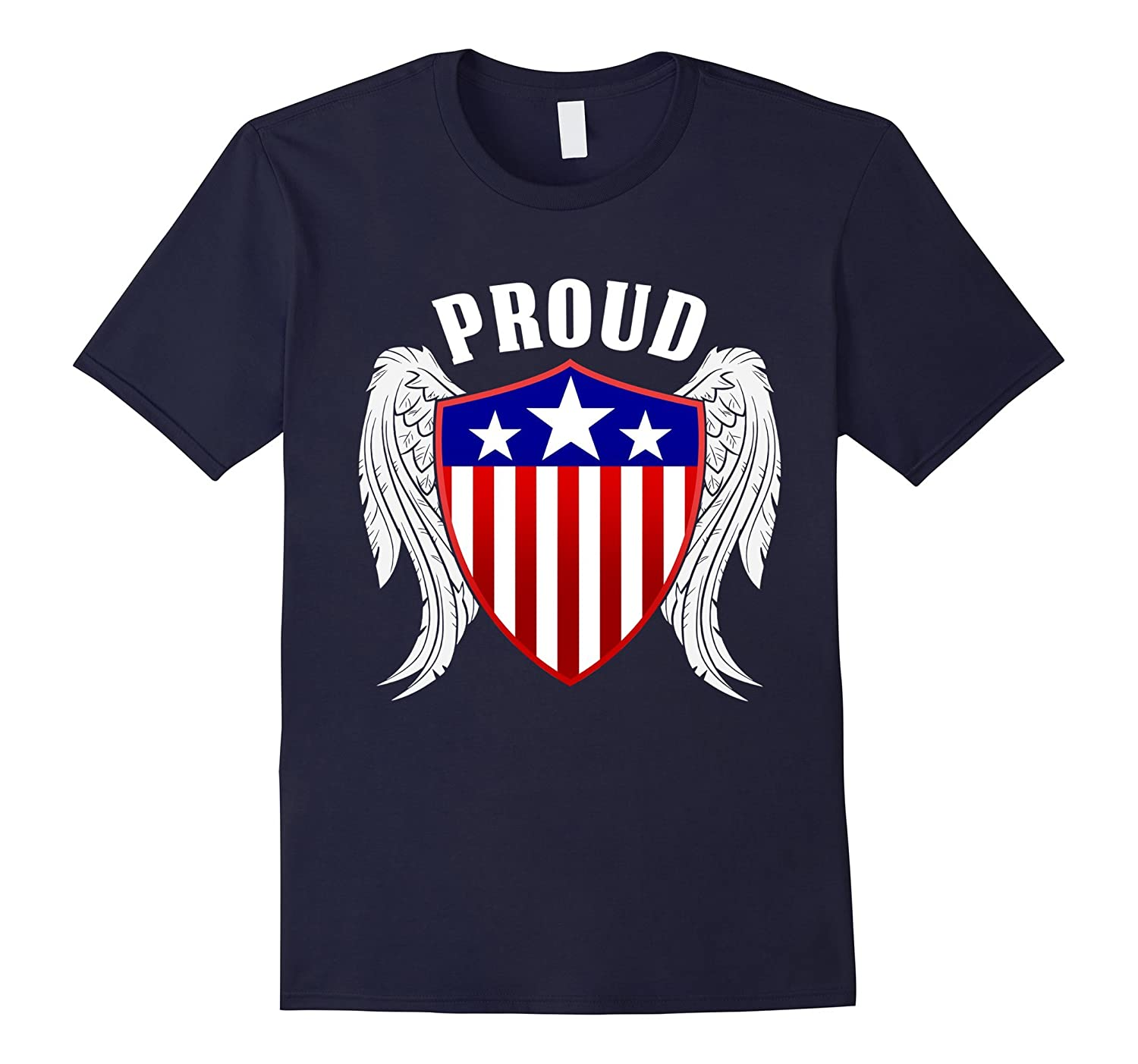 Proud Police American Symbol T-shirt With Wing tee-TD ...