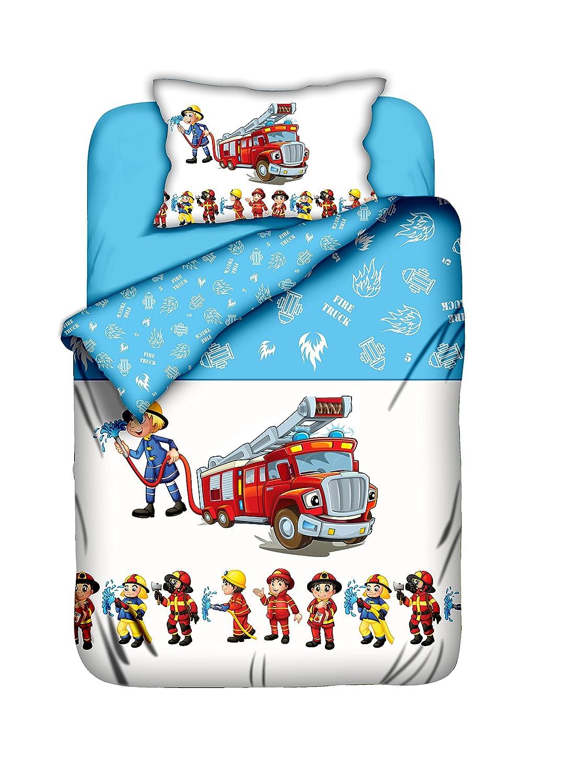 Aminata-Kids süße Kinderbettwäsche Bettwäsche Kinder 100x135 cm ...