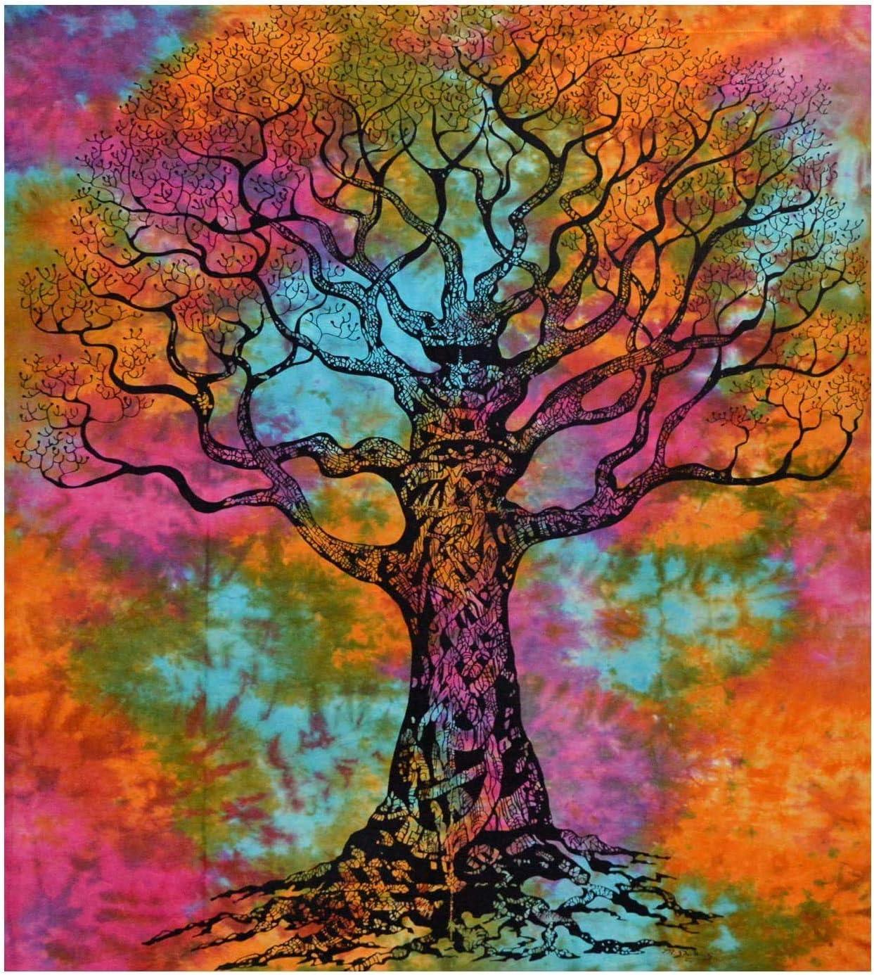 Mandala Tapestry Bohemian Wall Hanging, Psychedelic Wall Art, Dorm D cor Beach Throw, Indian Wall Tapestries Art