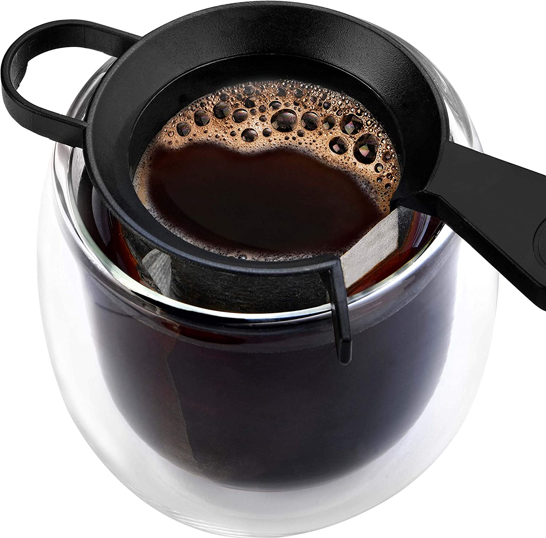 60 Tassenfilter Finum SET mit 60 ONE CUP Coffee Filters Halterung Filter f/ür Kaffeepulver Papierfilter 60 Kaffeefilter f/ür die Tasse Kaffeebereiter f/ür Becher 1 Stk.//60 Filter Halter