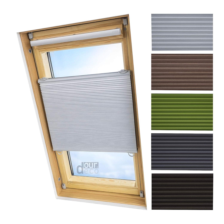 Ourdeco® Universal Dachfenster Thermo-Wabenplissee 103 x 141 cm weiß(Breite x Höhe) lichtundurchlässig, verdunkelnd, Thermo- und Hitzeschutz Klemmen=Montage ohne Bohren=Smartfix=Klemmfix=Easy-to-fix