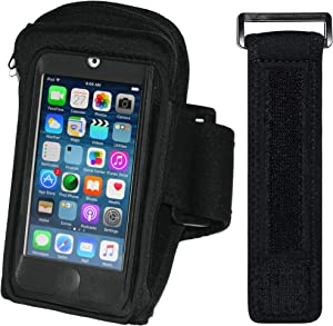 i2 Gear Armband Case Compatible with iPod Touch 7th, 6th & 5th Generation Devices - Workout MP3 Holder for Running and Exercise with Zipper Pouch & Adjustable Arm Band (20 inch)