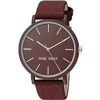 Nine West NW2066BYRG Reloj Análogo para Mujer, color Rojo