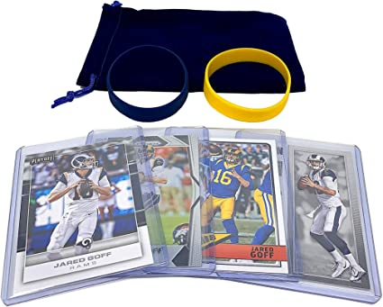 Assorted Bundle Los Angeles Rams Trading Card Gift Set Jared Goff Football Cards 4