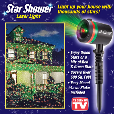 Star Shower Laser Christmas Light from Collections Etc.