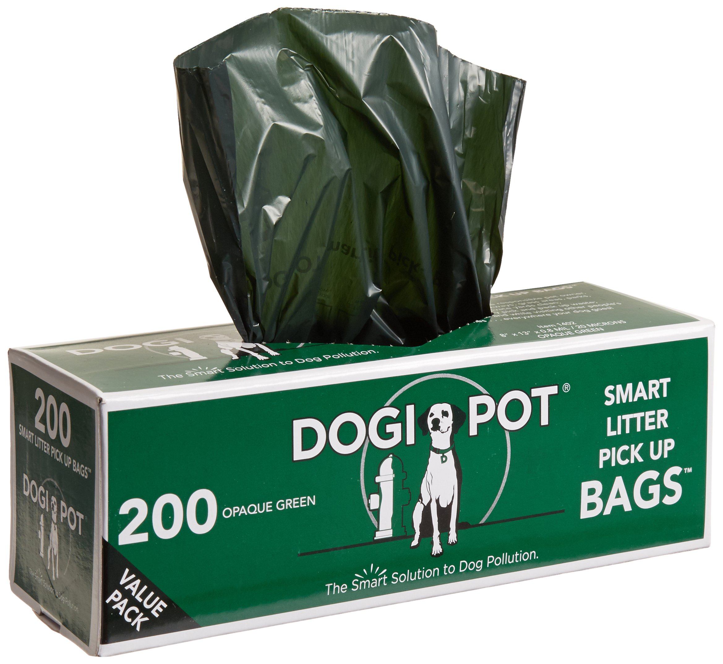 DOGIPOT 1402-10 10 Roll Case, Litter Pick up Bag Rolls, 200 Bags per Roll, Pack of 10 by Dogipot
