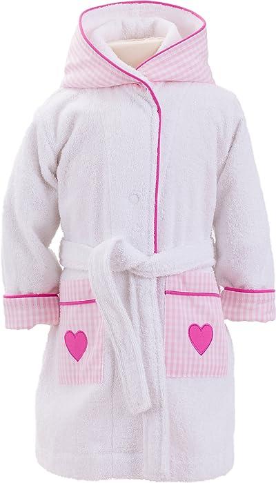 443bc627279 Smithy Smithy - Albornoz con diseño de corazones en rosa bebé