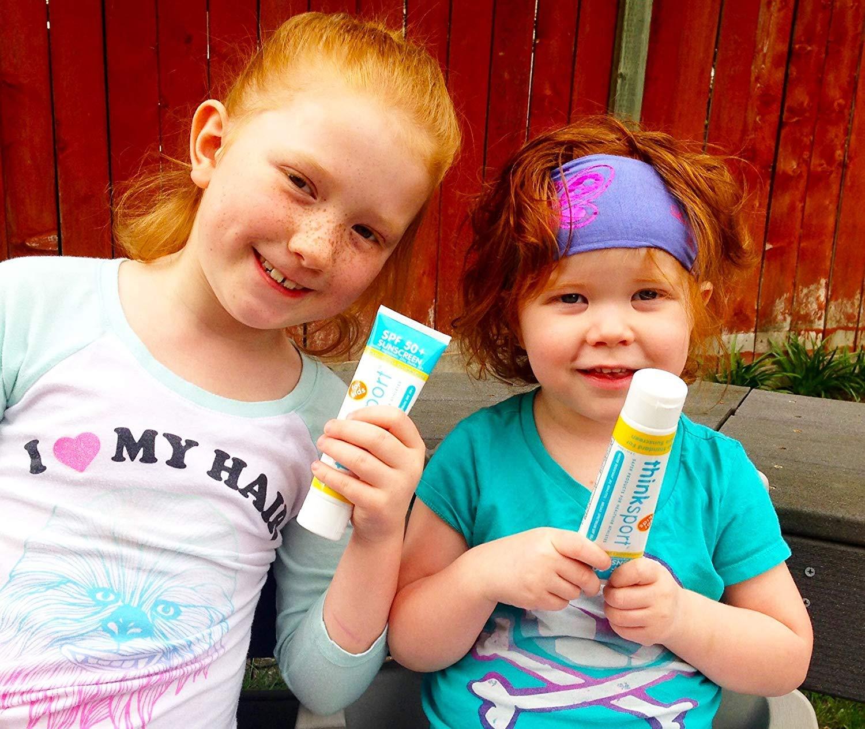 Thinksport Kids Natural Sunscreen SPF 50+, 3 ounce (Pack of 2)