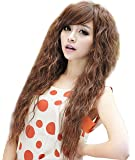 NuoYa001 New Womens Fashion Sexy long Full Curly Wavy Hair Wigs Cosplay Party Light Brown by NuoYa