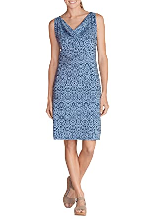 34f0fc0be617bb Eddie Bauer Damen Kleid mit Wasserfallausschnitt: Eddie Bauer: Amazon.de:  Bekleidung