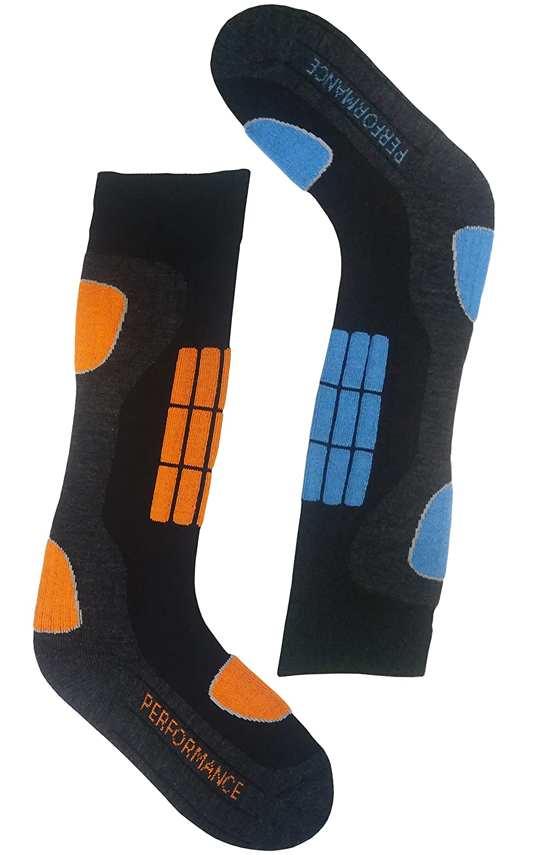 2 / 4 Paar Skisocken Damen warm, Thermosocken, Wintersocken, warme Socken, Trekkingsocken, Kniestrümpfe Kniestrümpfe VCA
