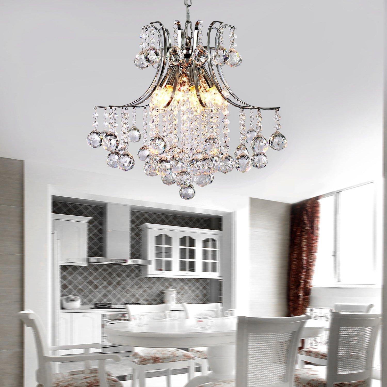 Modern Ceiling Lights For Bedroom Alfredar Modern Crystal Chandelier With 6 Lights Modern Ceiling