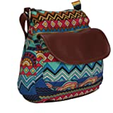 Lychee Bags Women's Sling Bag (Blue, Red, Sky Blue, Yellow, Brown,Lbhbcp20Bl)