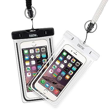 EOTW Funda Aqua Movil IPX8 Funda Sumergible Móvil 2 Pack para Huawei P20 P30 Pro iPhone X XS MAX XR 8 Plus Samsung S10 S9 S8+ J7 y Otros Móviles hasta ...