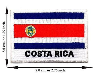 Costa Rica Bandera Nación Fútbol Deporte Tamaño L Logo Aplique Hierro en parche Coser
