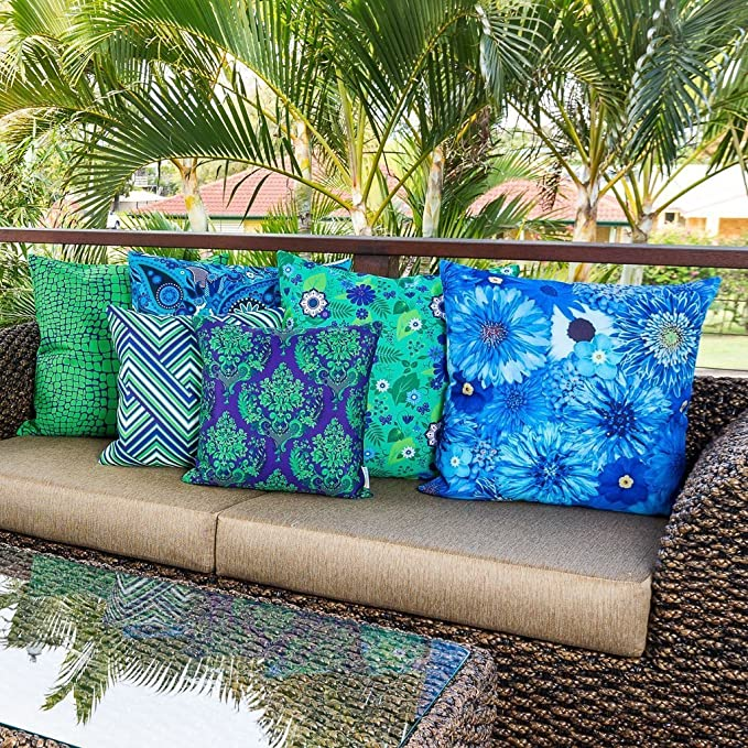 Cojín Decorativo Sunburst Outdoor Living 45cm x 45cm EXTREME Funda Cojín para Sillón, Sofá, Cama o Patio – Solo Funda, Sin Relleno