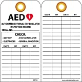 National Marker Corp. RPT43G Tags, Aed Inspection