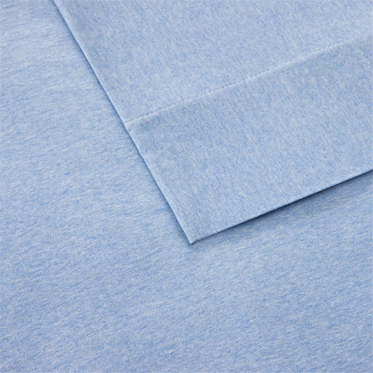 Ink+Ivy Cotton Jersey Knit All Season Heathered Sheet Set Natural Twin