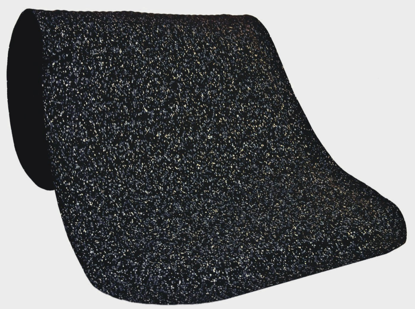 M+A Matting 443 Grey Nitrile Rubber Hog Heaven Confetti Anti-Fatigue Mat with Black Border, 5' Length x 3' Width x 5/8'' Thick, For Indoor