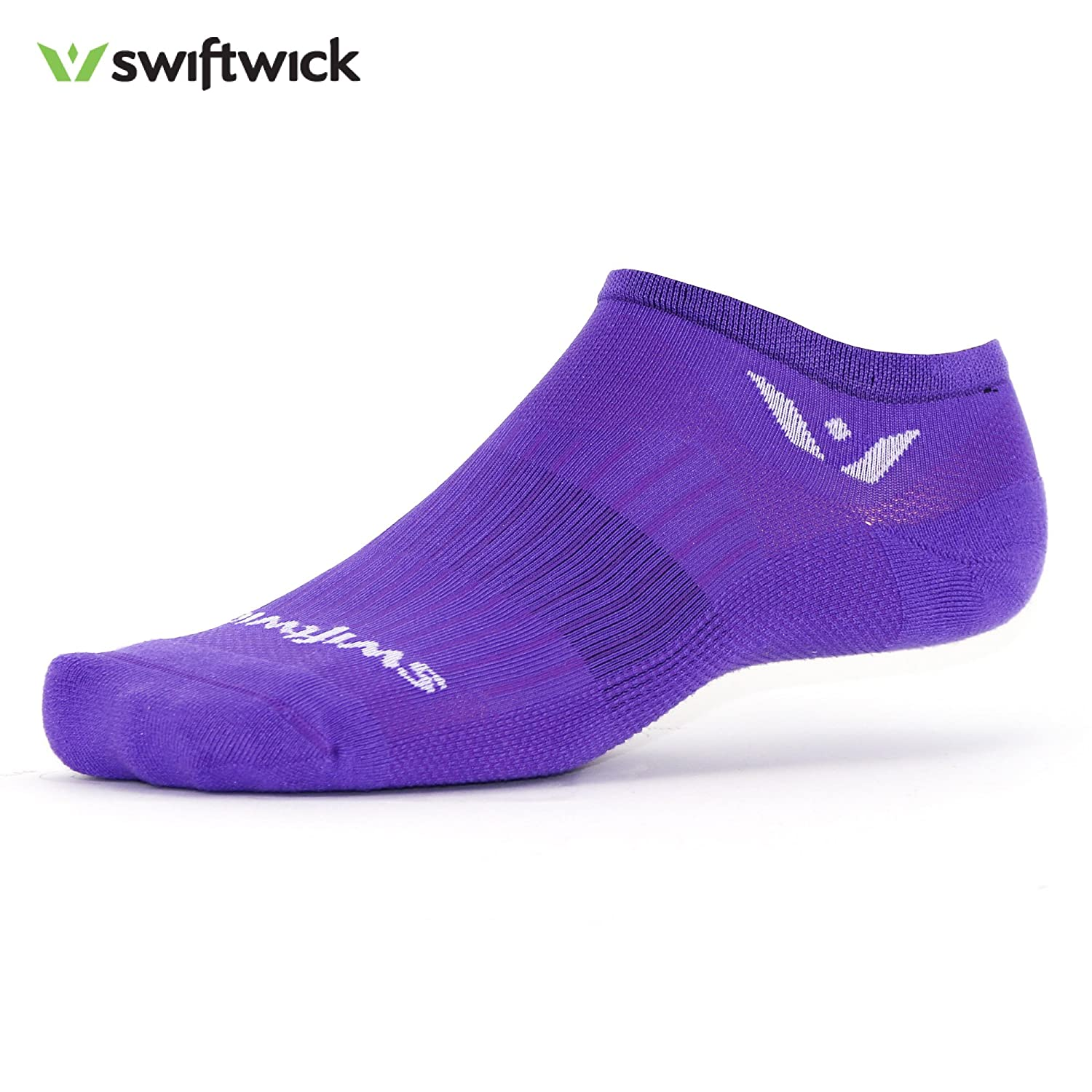 Purple Large Swiftwick  ASPIRE ZERO, NoShow Socks for Running