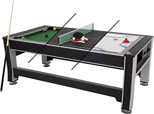 Triumph 3 In 1 Swivel Multigame Table Tabletop Billiards Games Sports Outdoors